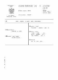 Sposób i urządzenie do badania zużycia udarowo-ściernego : opis patentowy nr 210732