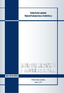 Budownictwo i Architektura Vol. 10(1)2012
