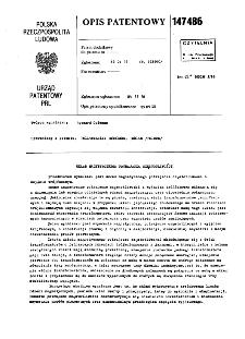 Układ magnetycznego potrajacza częstotliwości : opis patentowy nr 147486