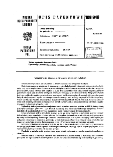 Urządzenie do docierania elementów przegubów kulistych : opis patentowy nr 109948