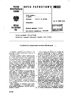 Urządzenie do wykonywania wirników ślimakowych : opis patentowy nr 119222