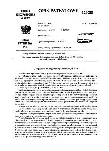Urządzenie do regeneracji metalowych kokil : opis patentowy nr 120281
