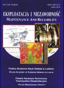 Eksploatacja i Niezawodność = Maintenance and Reliability Nr 2-3 (9-10)2001