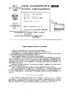 Napęd łańcucha przenośnika podwieszonego : opis patentowy patentu tymczasowego nr 120639