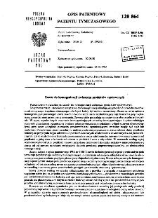 Zawór do homogenizacji zwłaszcza produktów spożywczych : opis patentowy patentu tymczasowego nr 120864