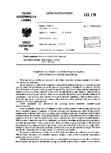 Urządzenie do badania trwałości eksploatacyjnej wibroizolatorów metodą dynamiczną : opis patentowy nr 122170