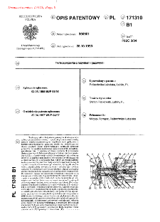 Turbosprężarka z łożyskami gazowymi : opis patentowy nr 171310