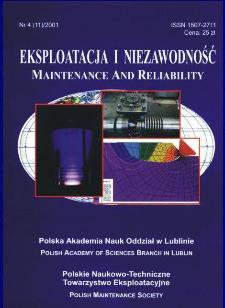 Eksploatacja i Niezawodność = Maintenance and Reliability Nr 4 (11)2001