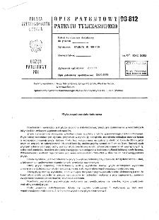 Płyta zespolona stalo-betonowa : opis patentowy patentu tymczasowego nr 98812