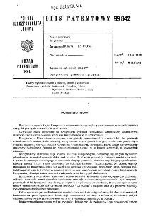Kompensator osiowy : opis patentowy nr 99842