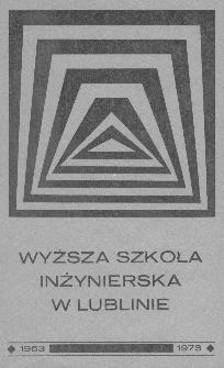 Wyższa Szkoła Inżynierska w Lublinie : 1953-1973