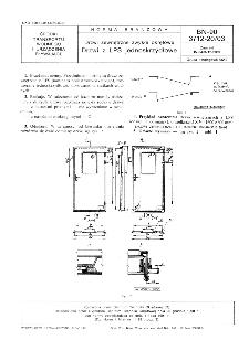 Drzwi zewnętrzne zwykłe okrętowe - Drzwi z LPS jednoskrzydłowe BN-90/3712-20/03