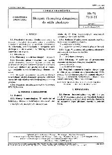 Skrzynie i komplety skrzyniowe do szkła płaskiego BN-76/7161-21