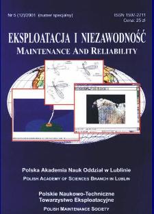 Eksploatacja i Niezawodność = Maintenance and Reliability Nr 5 (12)2001 : numer specjalny