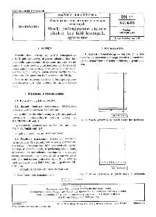 Opakowania transportowe z tworzyw sztucznych - Worki polietylenowe otwarte, płaskie, bez fałd bocznych, zgrzewane BN-77/6414-06