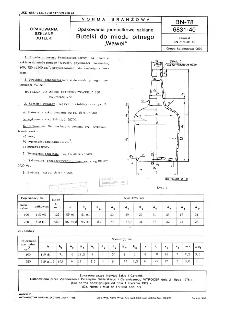 """Opakowania jednostkowe szklane - Butelki do miodu pitnego """"Wawel"""" BN-78/6831-40"""