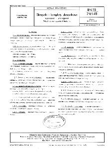 Skrzynki i komplety skrzynkowe spinane i zbrojone - Wspólne wymagania i badania BN-78/7161-48