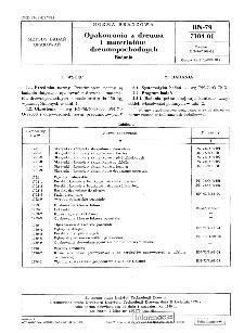 Opakowania z drewna i materiałów drewnopochodnych - Badania BN-79/7104-01