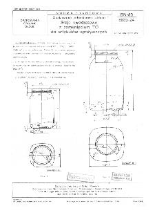 Opakowania jednostkowe szklane - Słoje kwadratowe z zamknięciem TO do artykułów spożywczych BN-80/6833-24