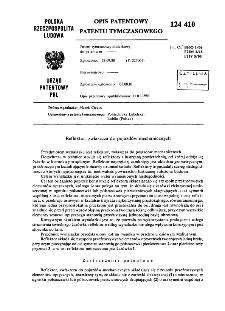 Reflektor, zwłaszcza do pojazdów mechanicznych : opis patentowy patentu tymczasowego nr 124410