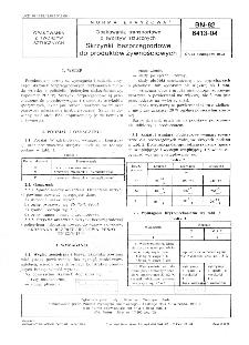 Opakowania transportowe z tworzyw sztucznych - Skrzynki bezprzegrodowe do produktów żywnościowych BN-82/6413-04