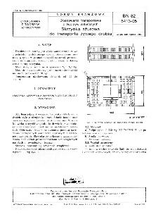 Opakowania transportowe z tworzyw sztucznych - Skrzynka ażurowa do transportu żywego drobiu BN-82/6413-05