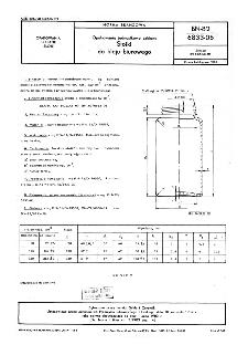 Opakowania jednostkowe szklane - Słoiki do kleju biurowego BN-82/6833-06
