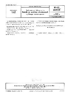 Opakowania jednostkowe szklane - Butelki do środków chemicznych ogólnego zastosowania BN-83/6831-08