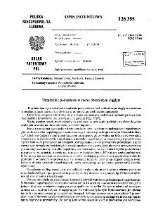 Urządzenie podziałowe w ruchu obrotowym ciągłym : opis patentowy nr 126355
