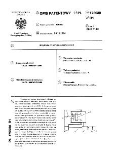 Urządzenie do pomiaru przemieszczeń : opis patentowy nr 175530