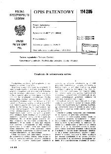 Urządzenie do wykonywania szybów : opis patentowy nr 114205