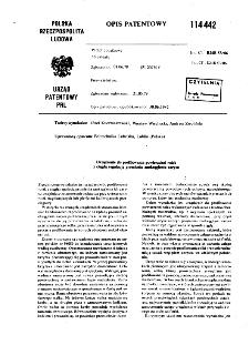 Urządzenie do profilowania powierzchni rolek z ciągłą, regulacją promienia zaokrąglenia zarysu : opis patentowy nr 114442