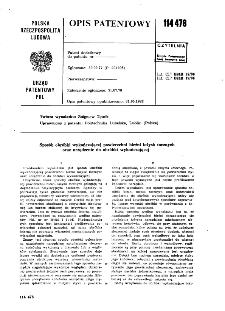 Sposób obróbki wykańczającej powierzchni bieżni łożysk tocznych oraz urządzenie do obróbki wykańczającej : opis patentowy nr 114478