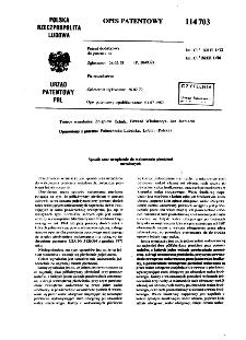 Sposób oraz urządzenie do walcownia pieścieni : opis patentowy nr 114703