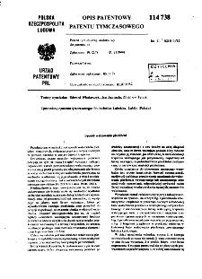 Sposób walcownia pieścieni : opis patentowy patentu tymczasowego nr 114738