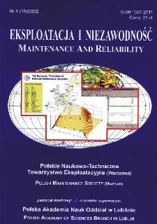 Eksploatacja i Niezawodność = Maintenance and Reliability Nr 4 (16)2002