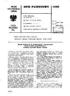 Sposób badania faz na wewnętrznych i zewnętrznych powierzchniach krzywoliniowych, zwłaszcza pierścieni łożysk tocznych : opis patentowy nr 114909