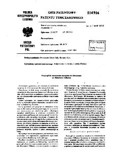 Przyrząd do nastawiania narzędzia do dłutowania na dłutownicy Fellowsa : opis patentowy patentu tymczasowego nr 114916