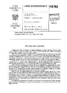 Promieniowy hamulec hydrauliczny : opis patentowy nr 118783