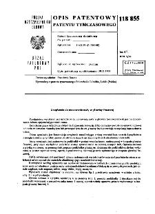 Urządzenie do mocowania noży w głowicy frezowej : opis patentowy patentu tymczasowego nr 118855