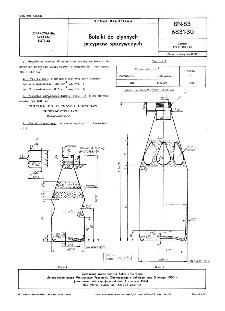 Butelki do płynnych przypraw spożywczych BN-83/6831-30