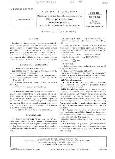 Opakowania transportowe z tworzyw sztucznych - Worki polietylenowe otwarte płaskie, bez fałd bocznych zgrzewane BN-84/6414-06