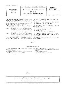 Opakowania jednostkowe szklane - Butelki do olejów mineralnych BN-84/6831-54