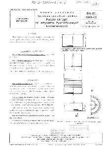 Opakowania jednostkowe metalowe - Puszki okrągłe do artykułów żywnościowych konserwowych BN-85/5041-01