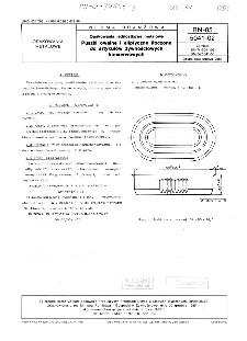 Opakowania jednostkowe metalowe - Puszki owalne i eliptyczne tłoczone do artykułów żywnościowych konserwowych BN-85/5041-02