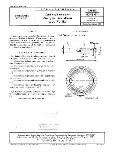 Zamknięcia metalowe - Zakrywki metalowe typu Feniks BN-85/5048-01