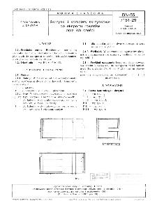 Skrzynki i komplety skrzynkowe do eksportu rowerów oraz ich części BN-85/7161-29