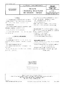 Skrzynki i komplety skrzynkowe do owoców i warzyw BN-85/7161-33