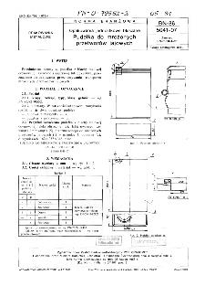 Opakowania jednostkowe blaszane - Pudełka do mrożonych przetworów jajowych BN-86/5041-07