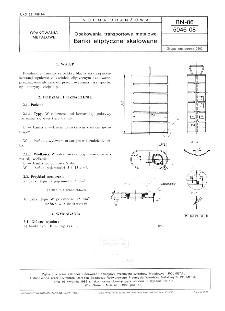 Opakowania transportowe metalowe - Bańki eliptyczne skalowane BN-86/5046-08